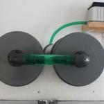 Bild: Garnelenzucht / Die Verbindung der Druckdosen mit der Yasunaga Pumpe.