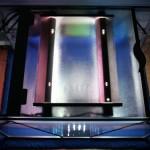 """Bild: So sieht das Arnold Design Aquarium """"Mecklenburg-Vorpommern"""" (2006) von Oben aus. Das Beleuchtungsmodul ist so gestaltet, dass sofort offenbar wird, was sich hier unter der Haube befindet. Inspiriert dadurch, werde ich bei Limbo volume TWO das Modul transparent machen, so dass es einen ungehinderten Blick von Oben auf das Innere zuläßt. Experience The Perfection, Experience The Beauty."""