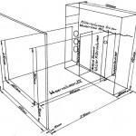 """Bild: Arnold Design Aquarien / Arnold Design Aquarium """"Limbo volume TWO"""" dargestellt in einer technischen Zeichnung."""