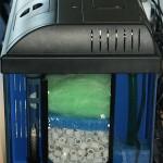 Bild: Aquariumtuning / Seitenansicht auf den Dreikammerfilter in einem getuntem 60er Waterhome Set