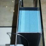 Bild: Filtertuning - Vom Kleinen ins Große / Blick von Oben, auf den seitlich eingebauten Dreikammerfilter (2013).